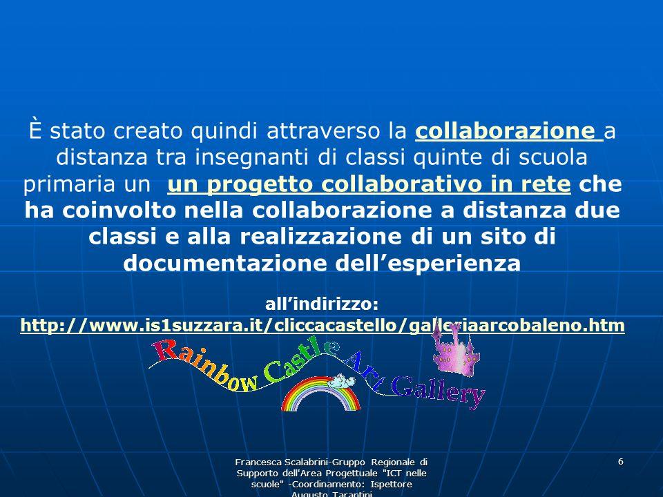 È stato creato quindi attraverso la collaborazione a distanza tra insegnanti di classi quinte di scuola primaria un un progetto collaborativo in rete che ha coinvolto nella collaborazione a distanza due classi e alla realizzazione di un sito di documentazione dell'esperienza