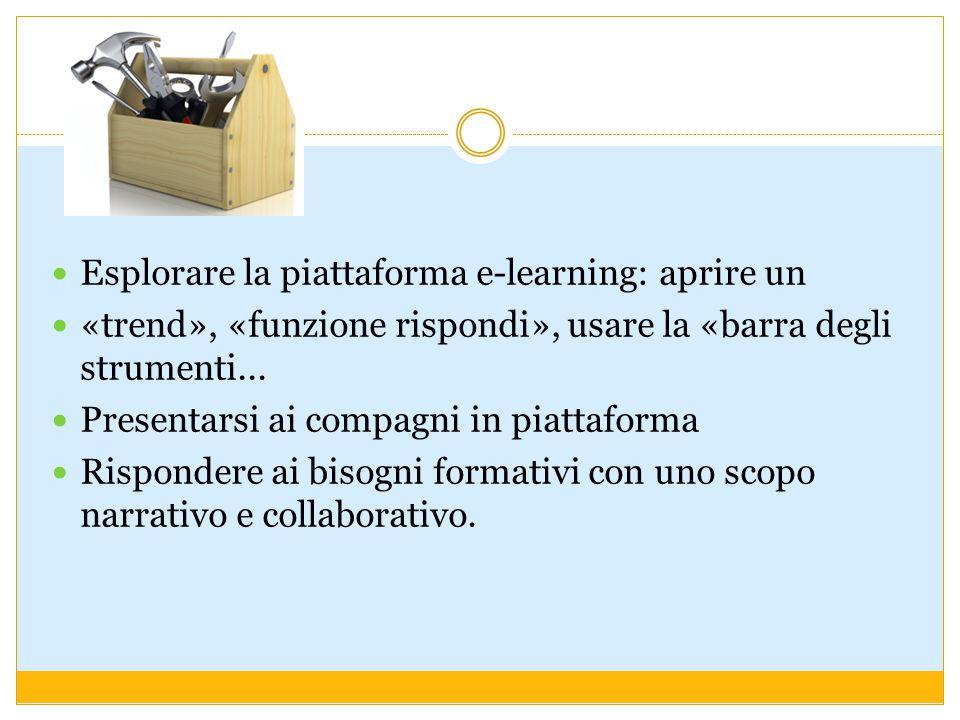 Esplorare la piattaforma e-learning: aprire un