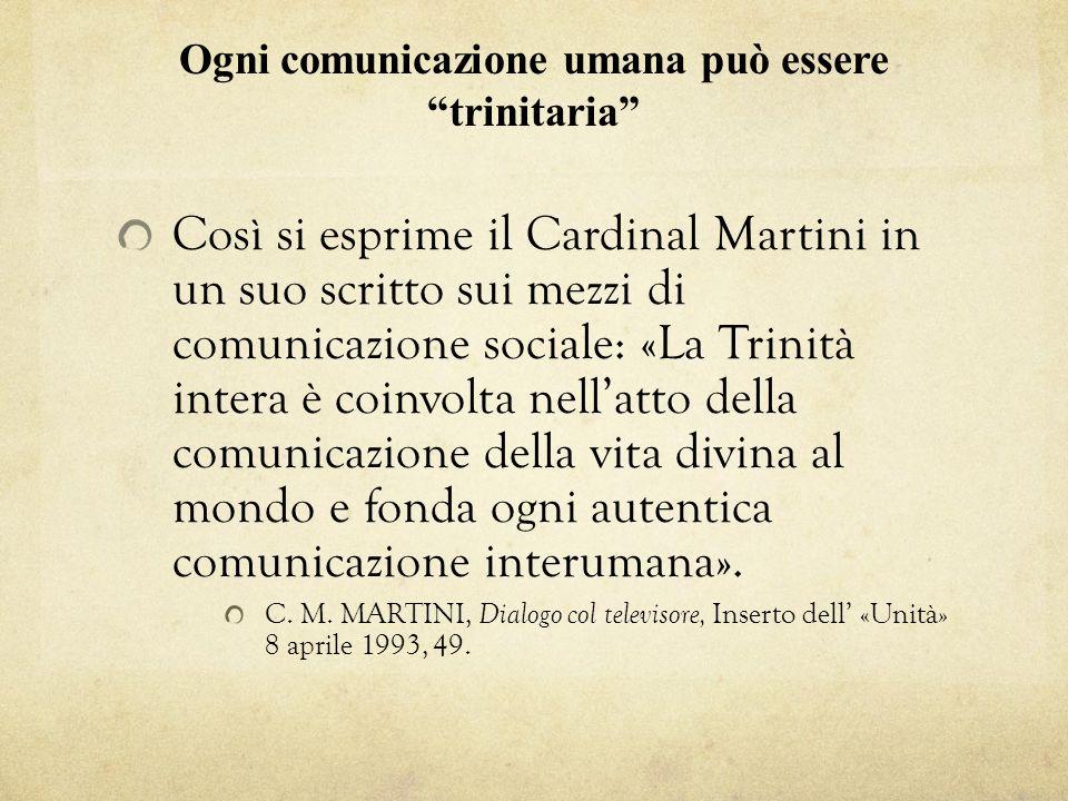 Ogni comunicazione umana può essere trinitaria