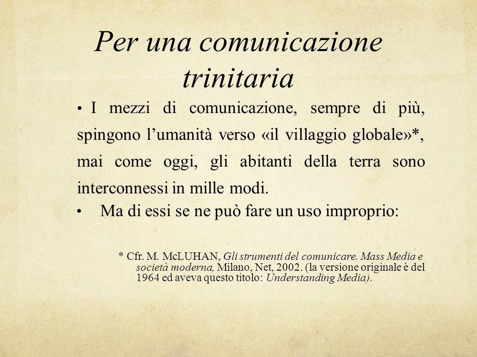 Per una comunicazione trinitaria
