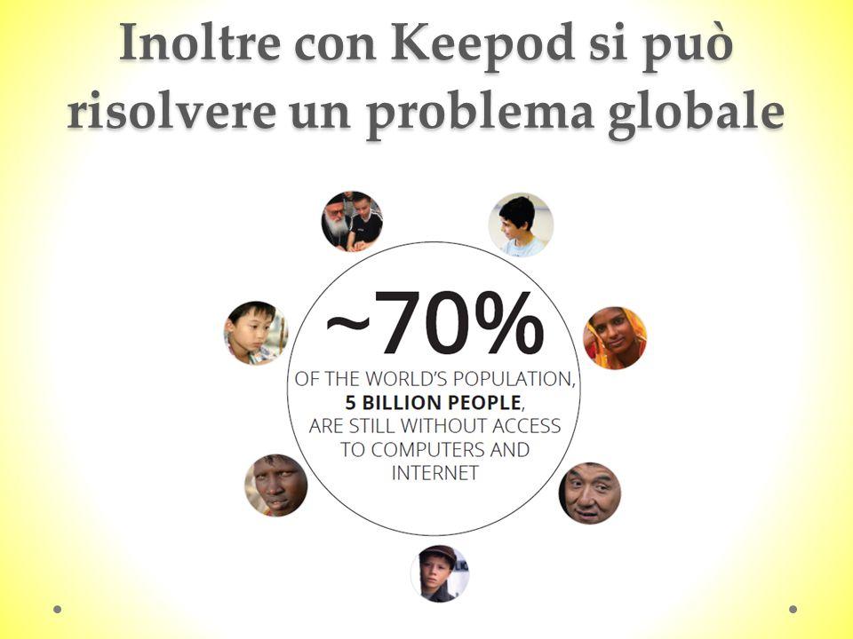 Inoltre con Keepod si può risolvere un problema globale