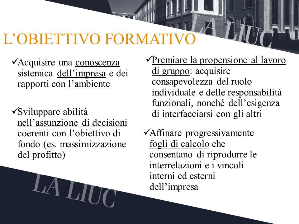 L'OBIETTIVO FORMATIVO