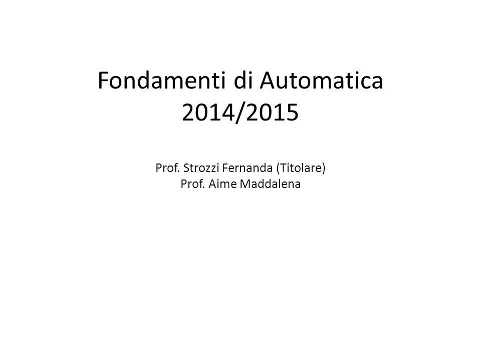 Fondamenti di Automatica 2014/2015 Prof
