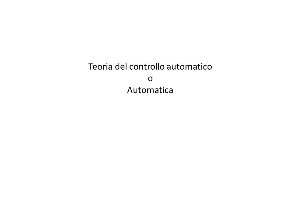 Teoria del controllo automatico