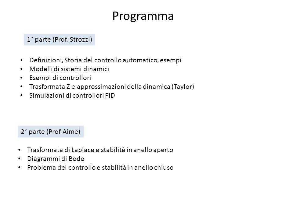 Programma 1° parte (Prof. Strozzi)