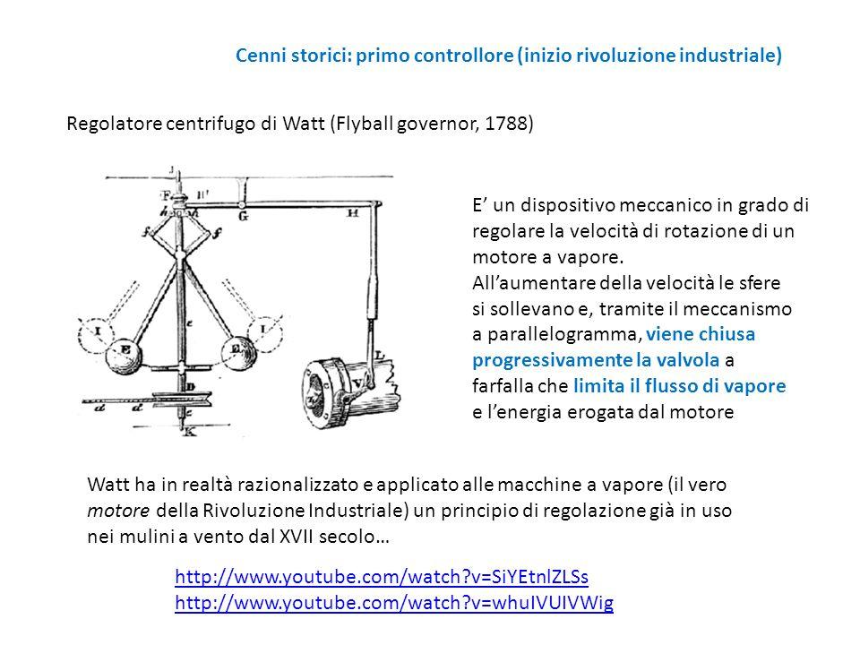 Cenni storici: primo controllore (inizio rivoluzione industriale)