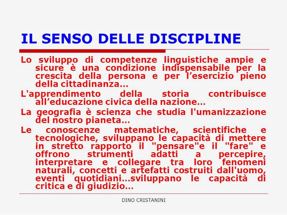 IL SENSO DELLE DISCIPLINE