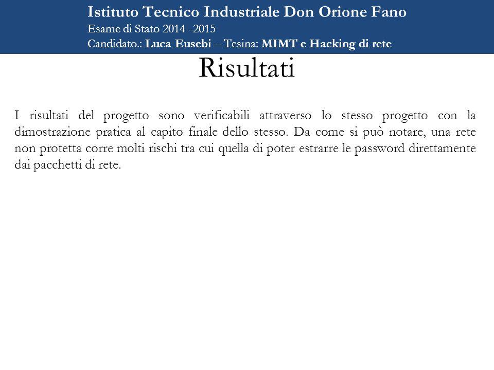 Risultati Istituto Tecnico Industriale Don Orione Fano