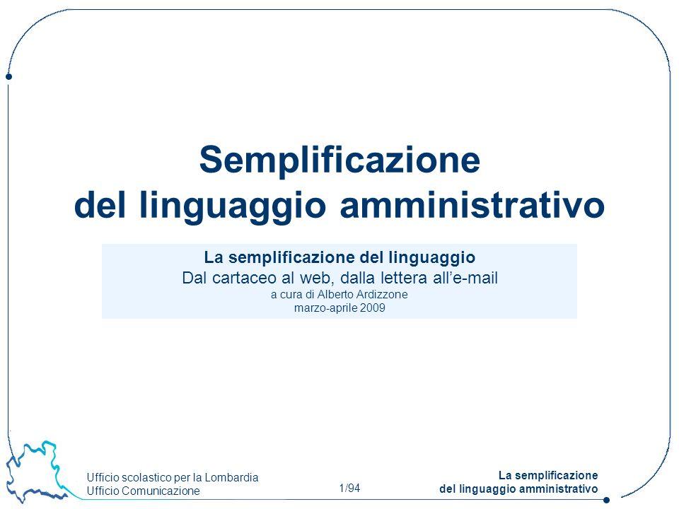 Semplificazione del linguaggio amministrativo