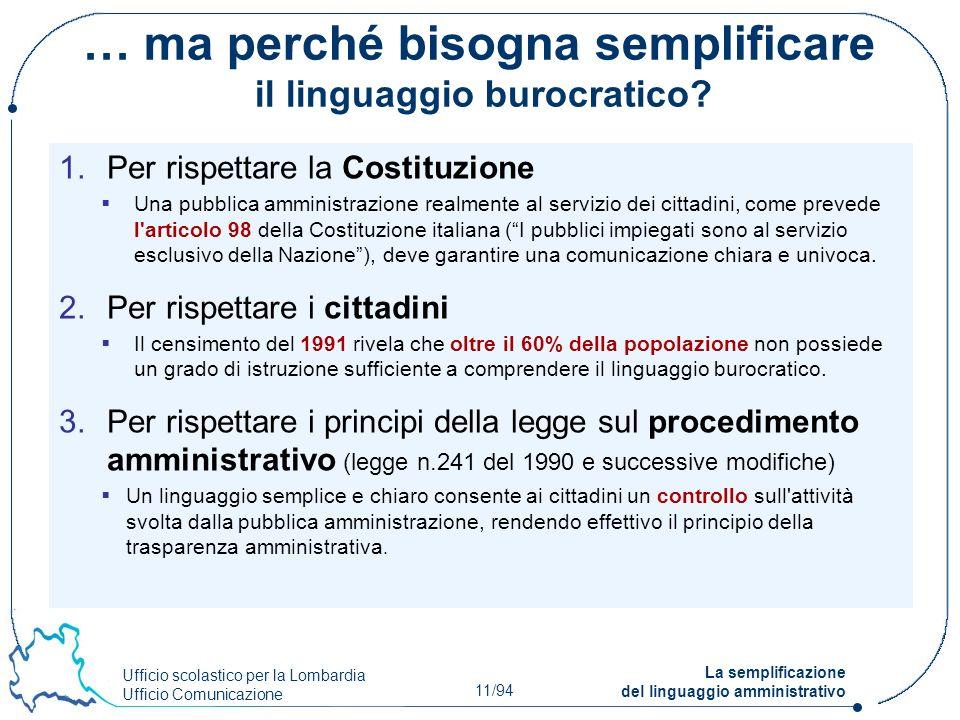 … ma perché bisogna semplificare il linguaggio burocratico