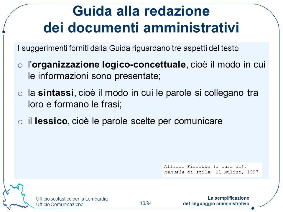 Guida alla redazione dei documenti amministrativi