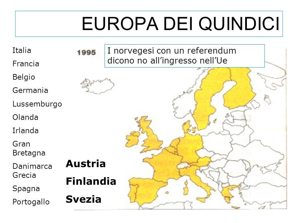 EUROPA DEI QUINDICI Austria Finlandia Svezia