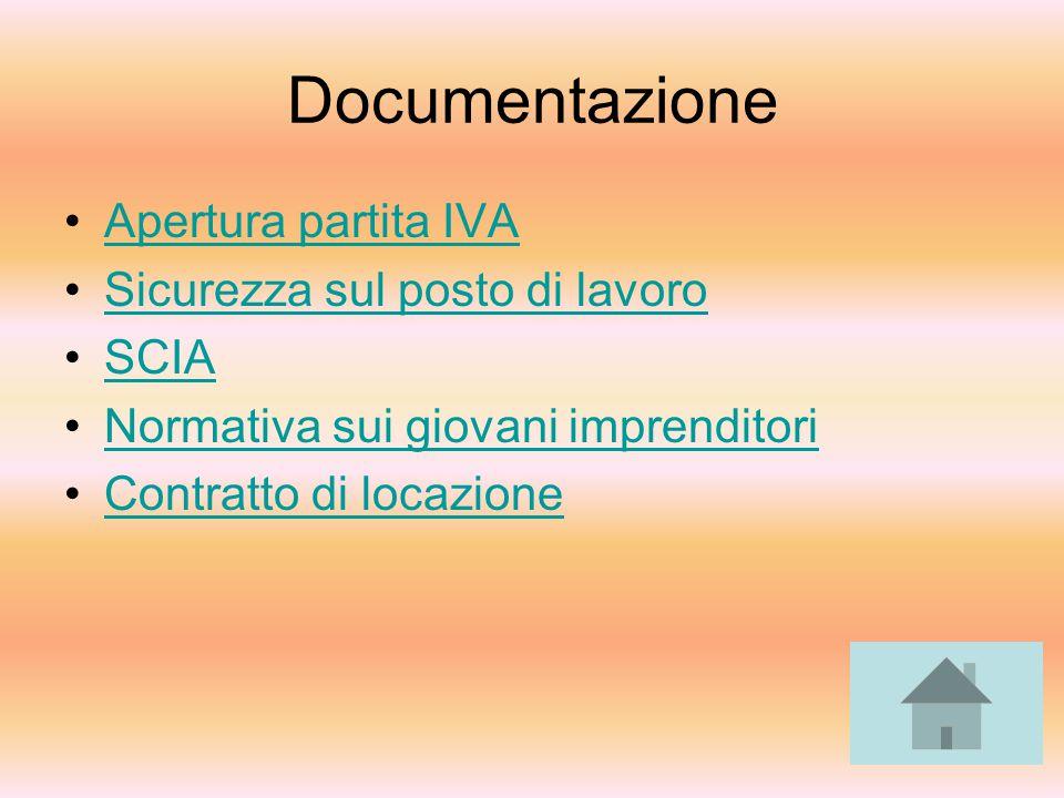 Documentazione Apertura partita IVA Sicurezza sul posto di lavoro SCIA