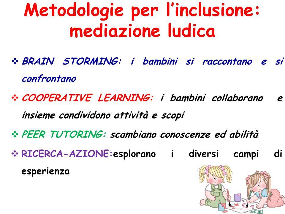 Metodologie per l'inclusione: mediazione ludica