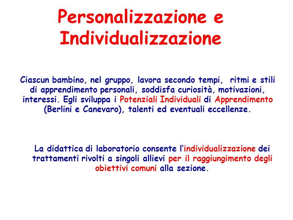 Personalizzazione e Individualizzazione