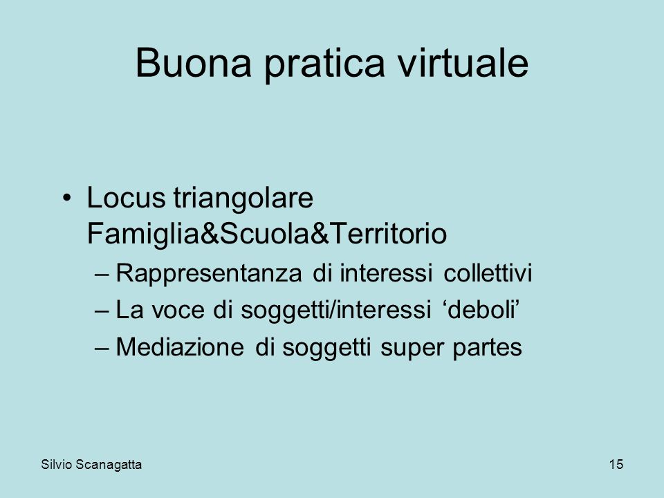 Buona pratica virtuale