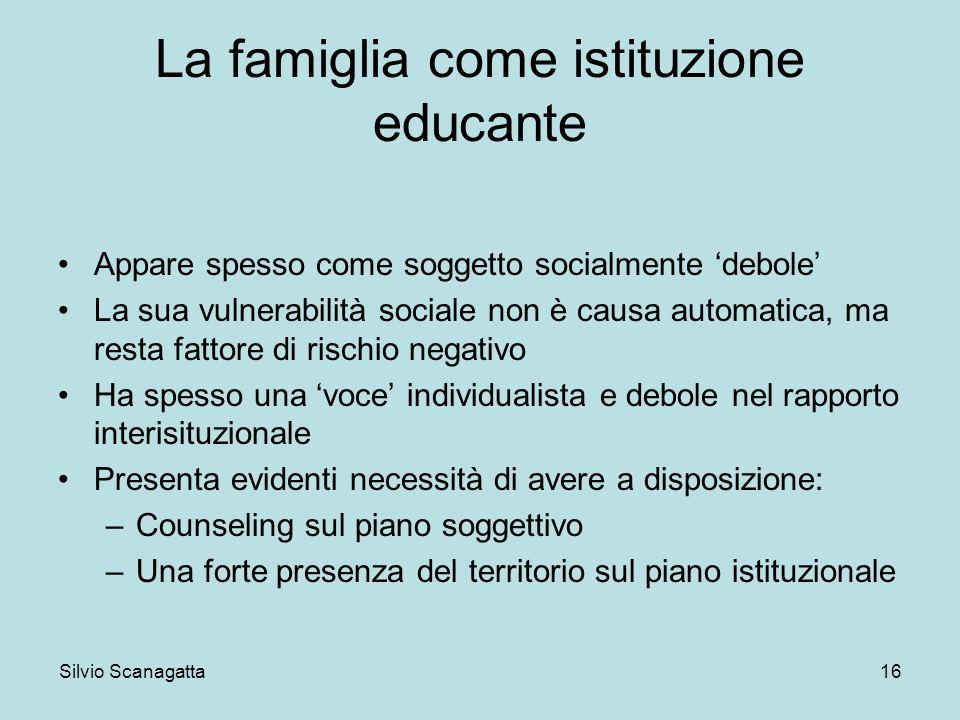 La famiglia come istituzione educante