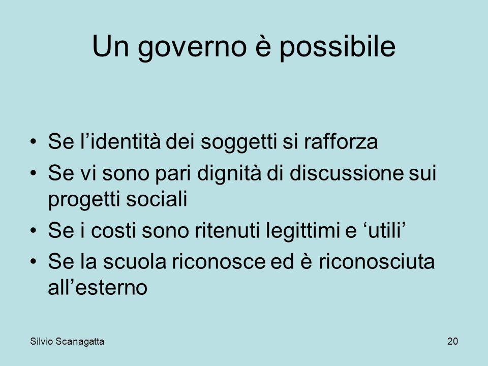 Un governo è possibile Se l'identità dei soggetti si rafforza