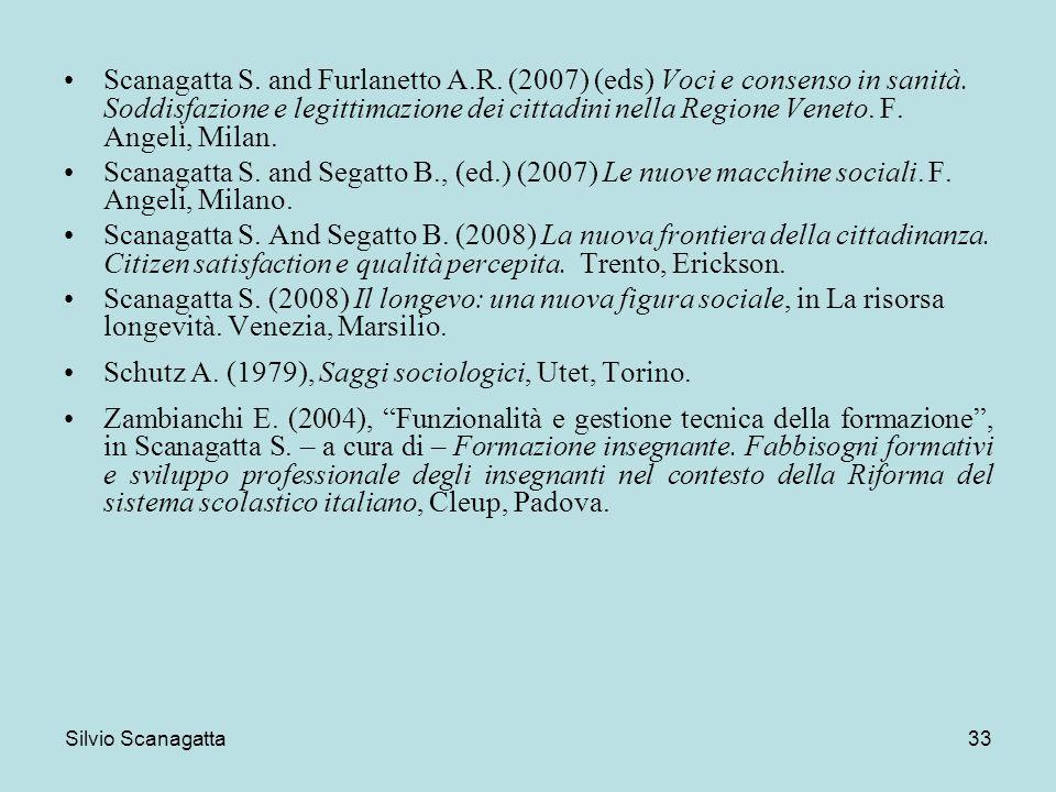 Schutz A. (1979), Saggi sociologici, Utet, Torino.