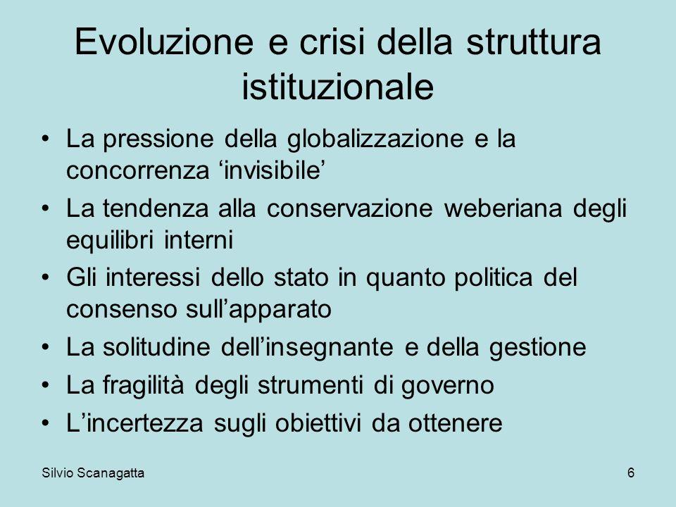 Evoluzione e crisi della struttura istituzionale