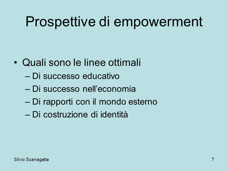 Prospettive di empowerment
