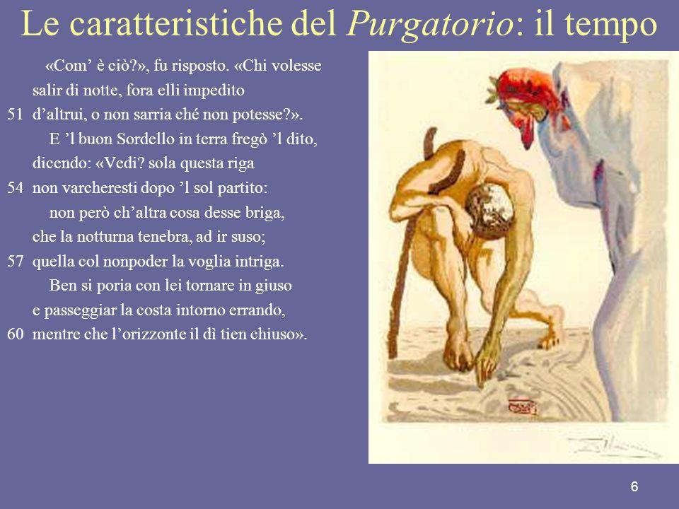 Le caratteristiche del Purgatorio: il tempo