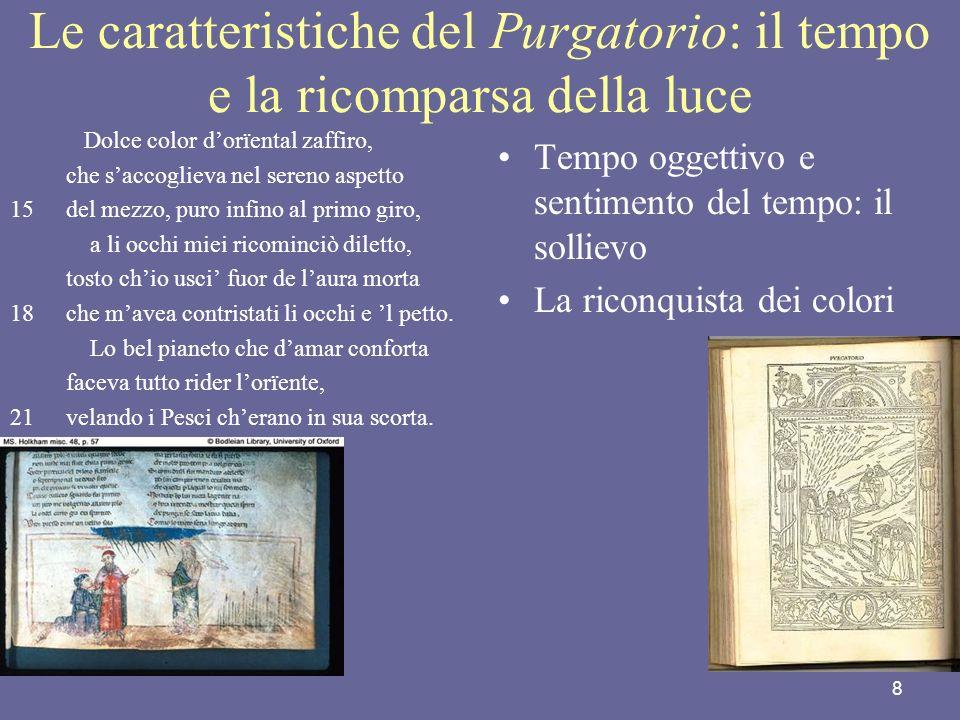 Le caratteristiche del Purgatorio: il tempo e la ricomparsa della luce