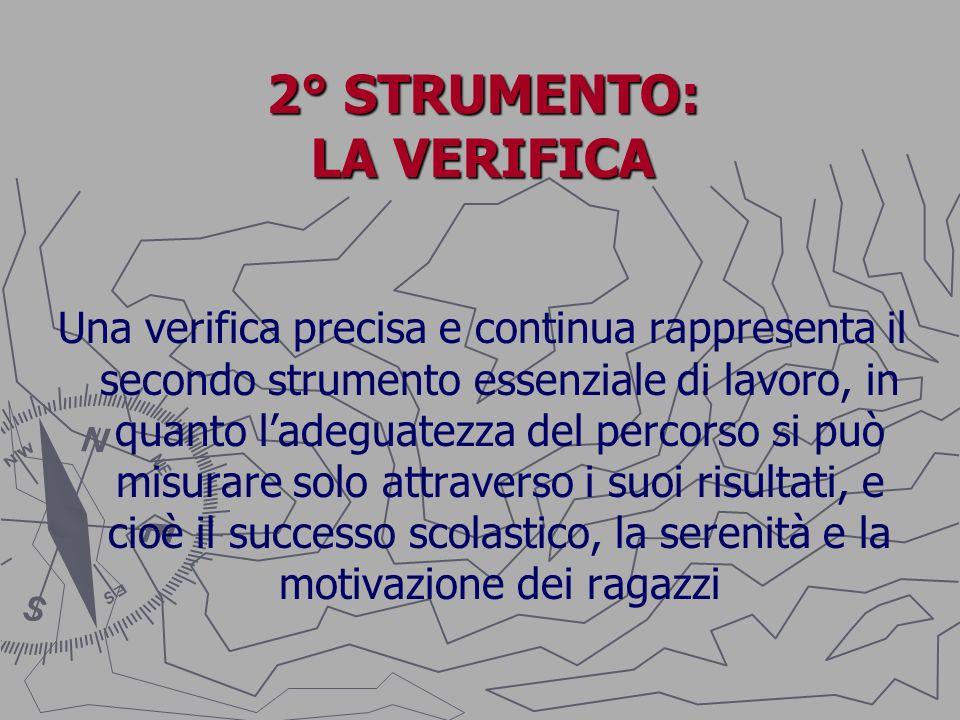 2° STRUMENTO: LA VERIFICA
