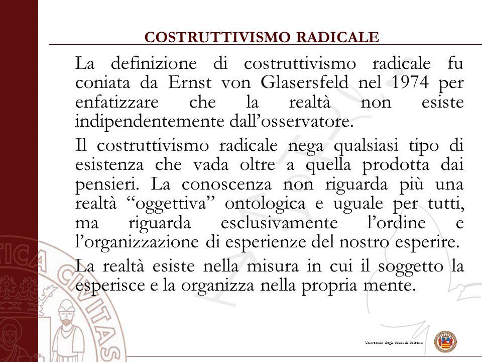 COSTRUTTIVISMO RADICALE