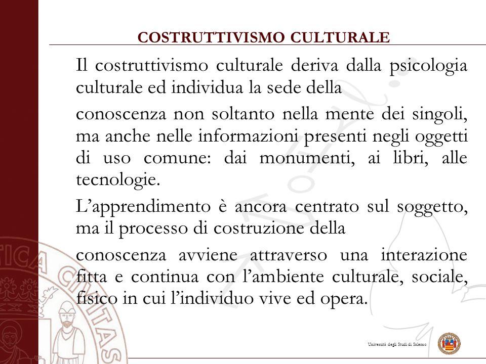 COSTRUTTIVISMO CULTURALE