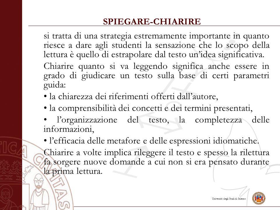 SPIEGARE-CHIARIRE