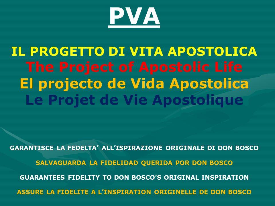 PVA The Project of Apostolic Life El projecto de Vida Apostolica