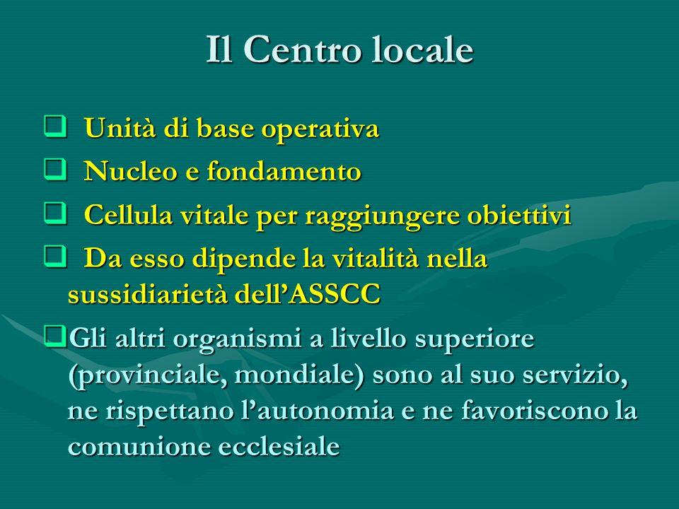 Il Centro locale Unità di base operativa Nucleo e fondamento