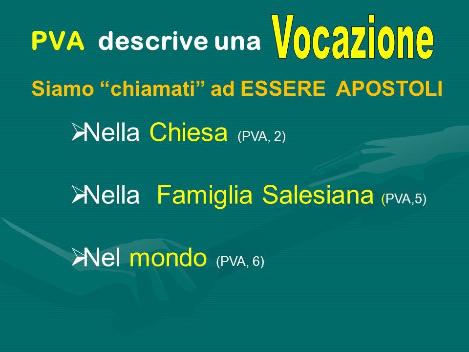 Nella Famiglia Salesiana (PVA,5) Nel mondo (PVA, 6)