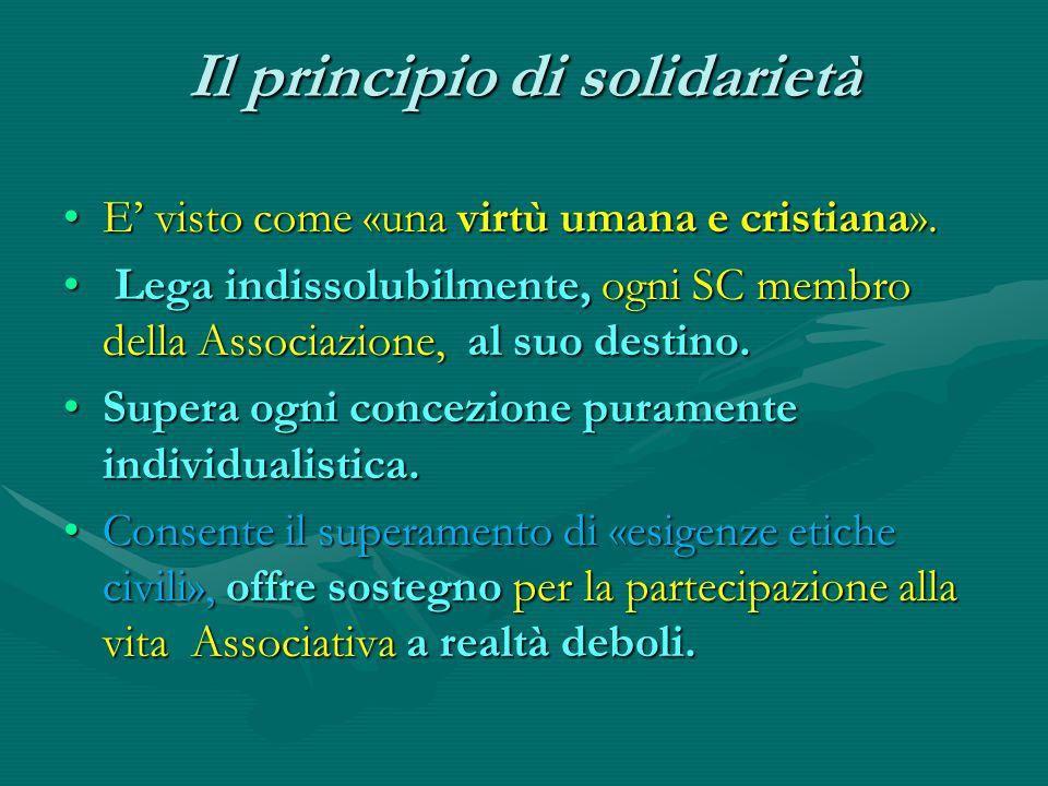 Il principio di solidarietà