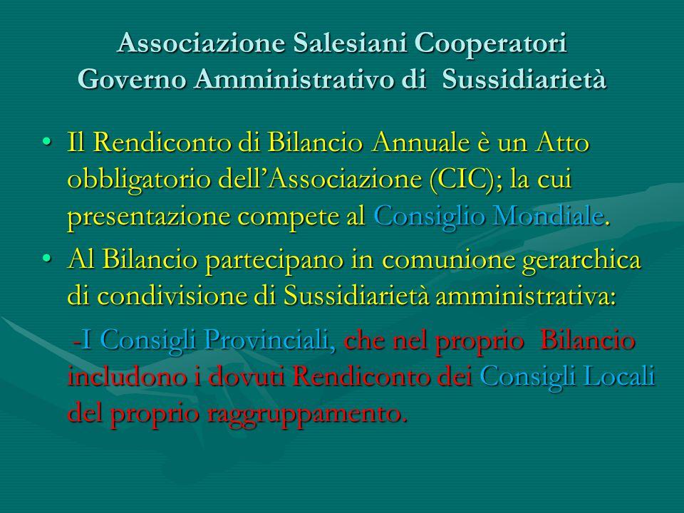 Associazione Salesiani Cooperatori Governo Amministrativo di Sussidiarietà