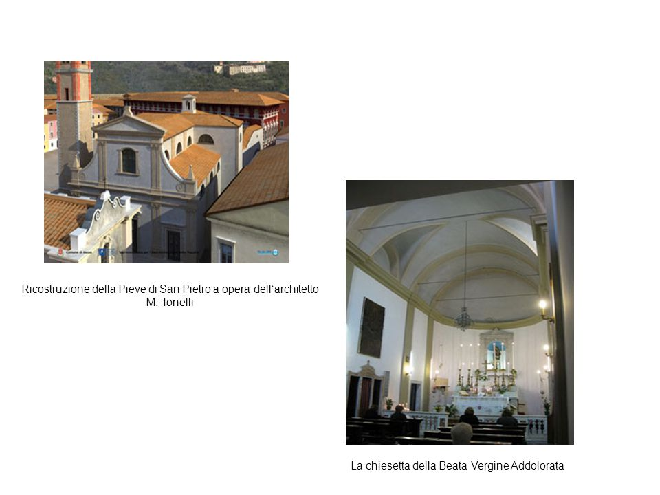 Ricostruzione della Pieve di San Pietro a opera dell'architetto M