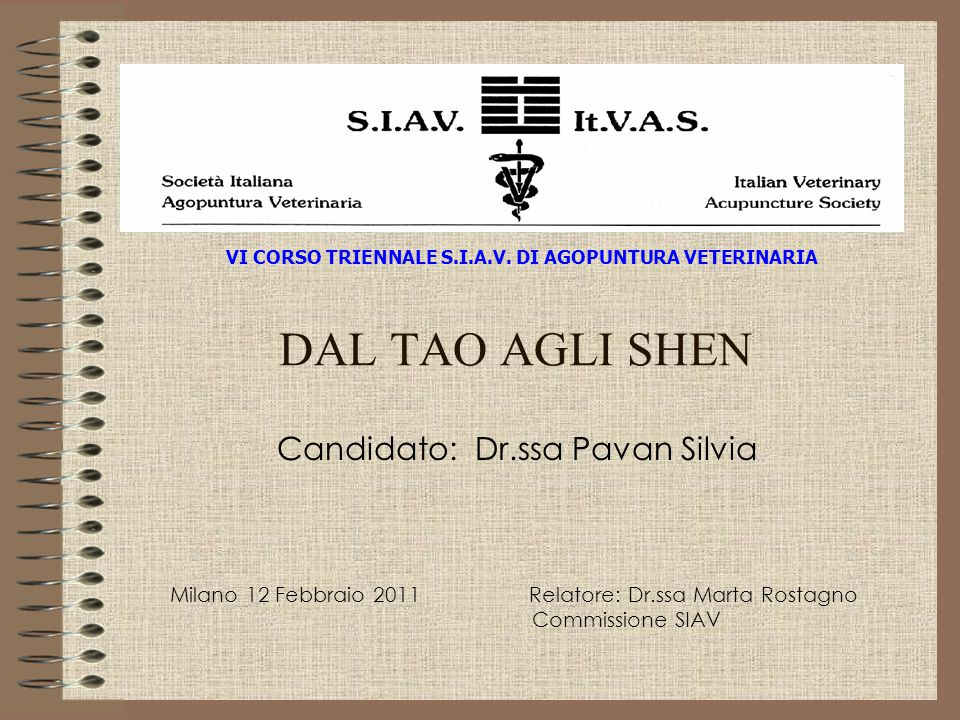 Candidato: Dr.ssa Pavan Silvia