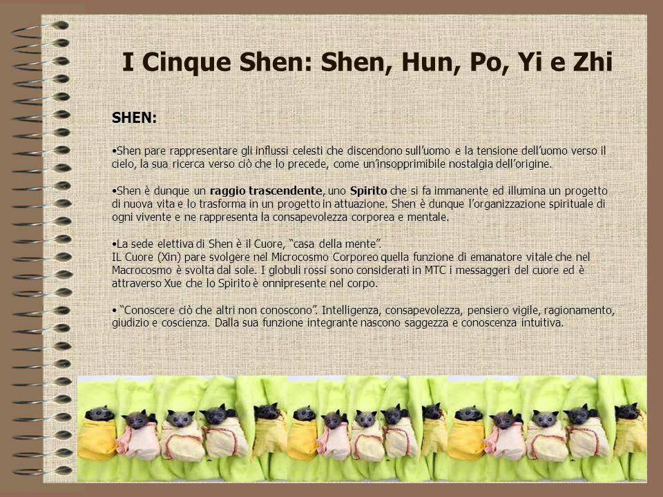I Cinque Shen: Shen, Hun, Po, Yi e Zhi