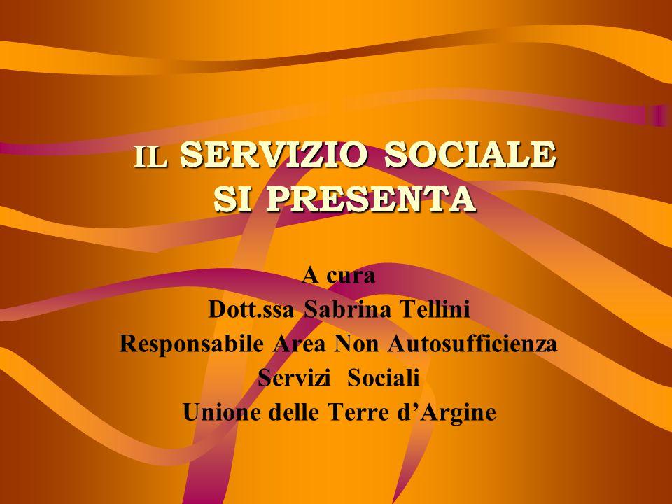 IL SERVIZIO SOCIALE SI PRESENTA