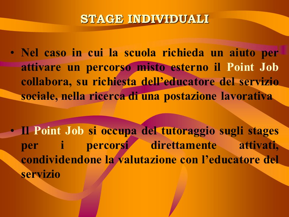 STAGE INDIVIDUALI