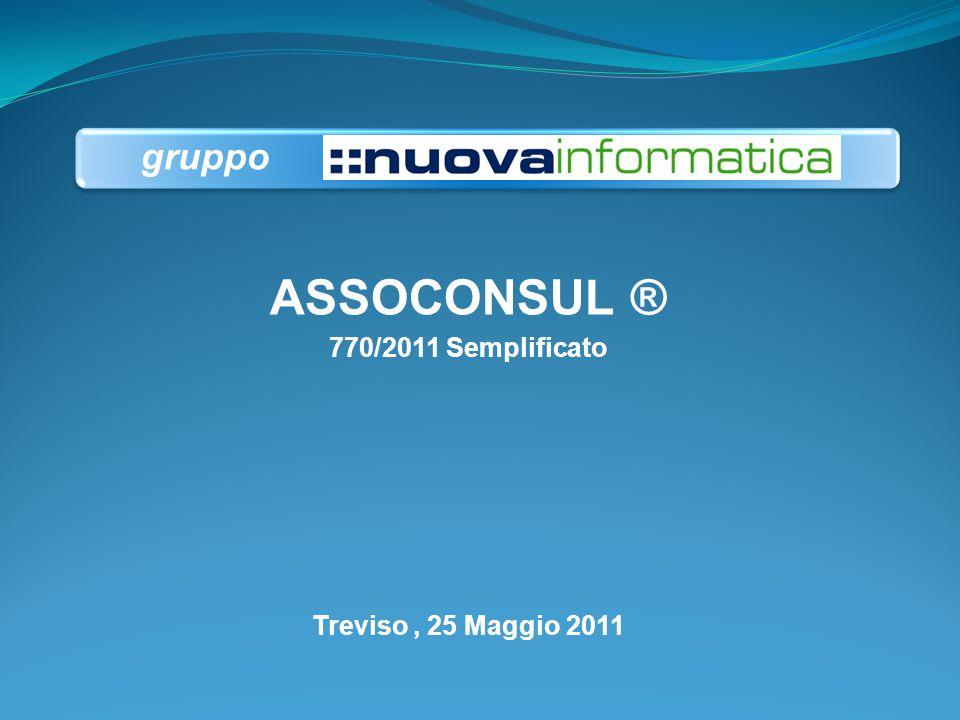 ASSOCONSUL ® 770/2011 Semplificato Treviso , 25 Maggio 2011