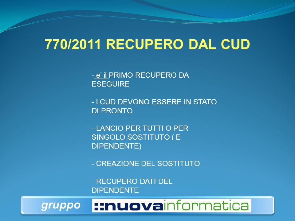 770/2011 RECUPERO DAL CUD gruppo