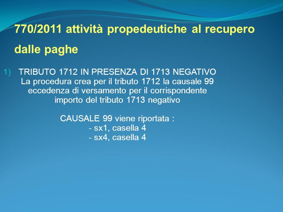 770/2011 attività propedeutiche al recupero dalle paghe