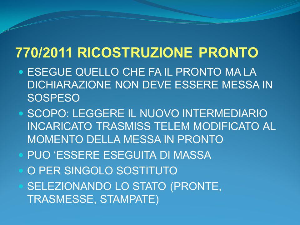 770/2011 RICOSTRUZIONE PRONTO