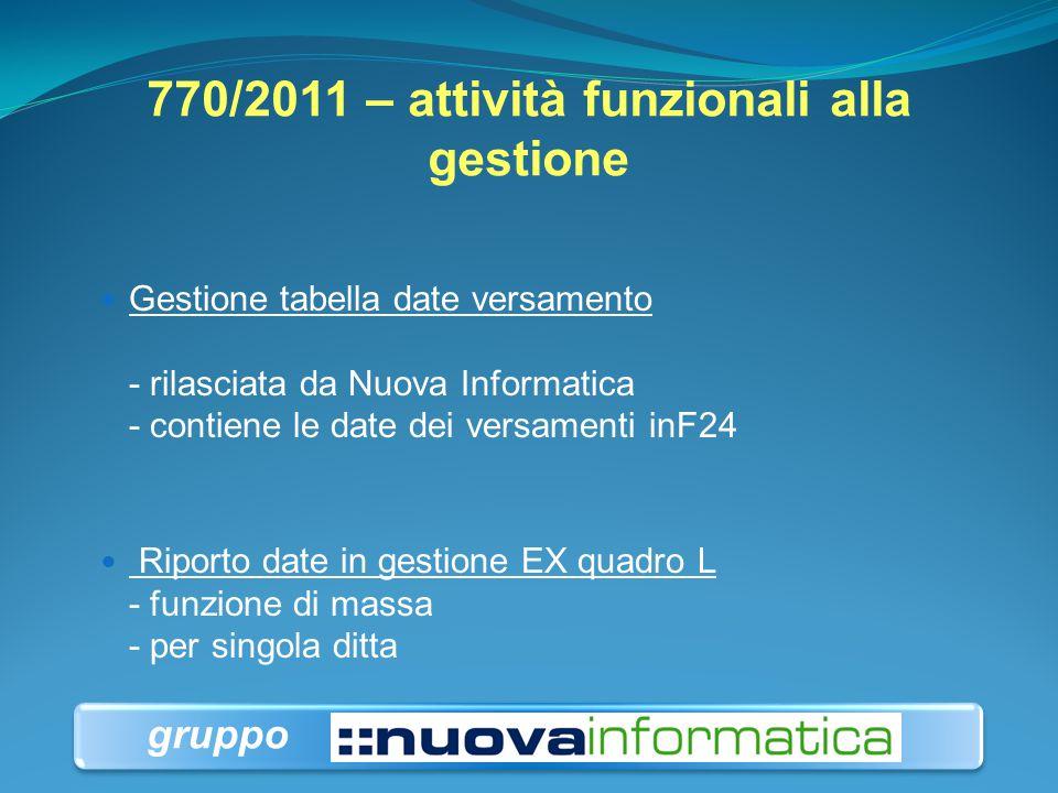 770/2011 – attività funzionali alla gestione