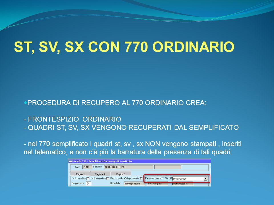 ST, SV, SX CON 770 ORDINARIO