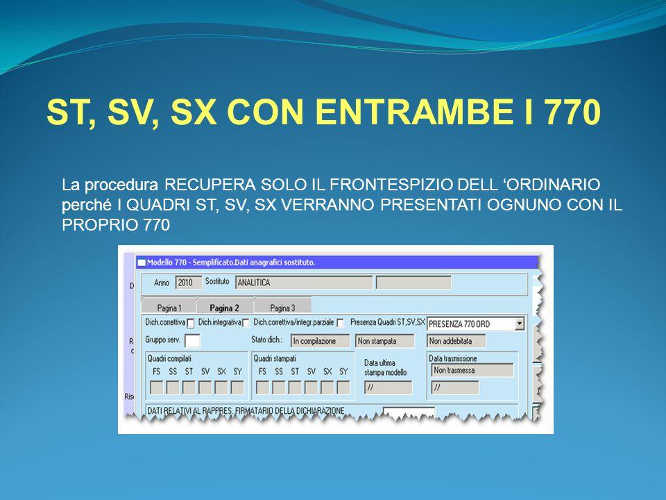 ST, SV, SX CON ENTRAMBE I 770