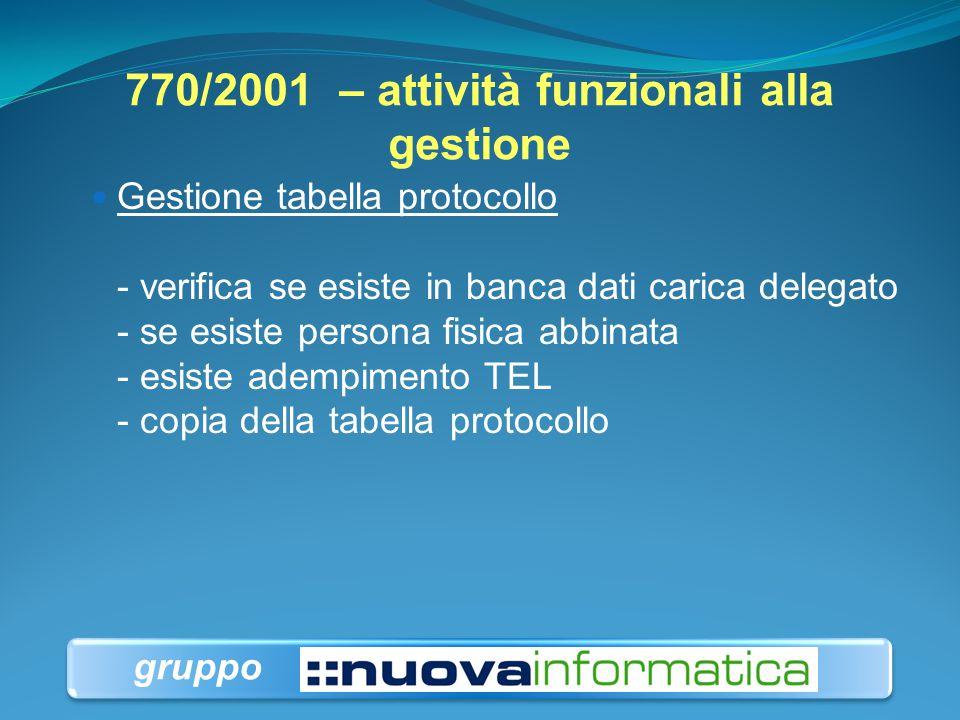 770/2001 – attività funzionali alla gestione
