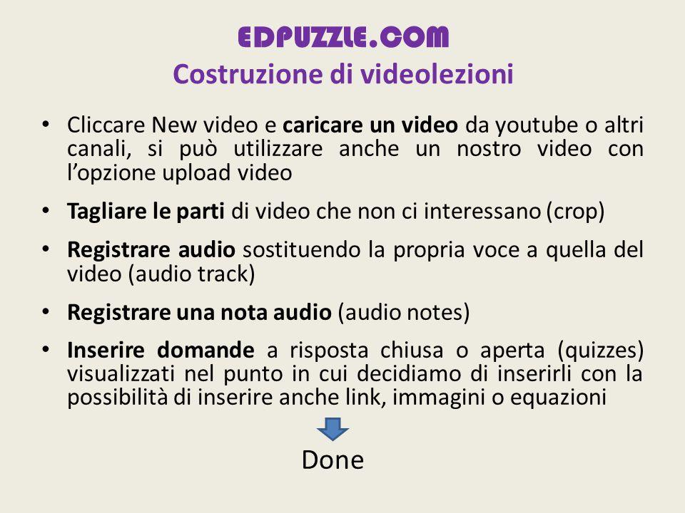 EDPUZZLE.COM Costruzione di videolezioni